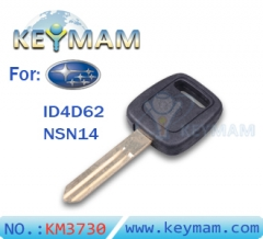 Subaru ID4D62 chave do transponder
